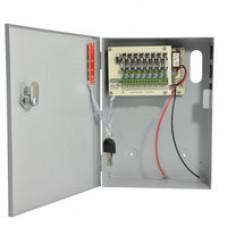 Импульсный блок питания 12 Вольт, 5 Ампер. Металлический  бокс, место под аккумулятор 12В, 7 Ач. Защита от переполюсовки, защита от короткого замыкания, защита АКБ от глубокого разряда.