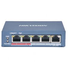 DS-3E0105P-E(B) 4-портовый неуправляемый POE коммутатор Hikvision