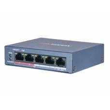 DS-3E0105P-E/M(B) 4-портовый POE коммутатор Hikvision