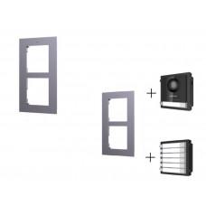 DS-KD-ACF2 рамка для врезного типа крепления 2х модульных панелей
